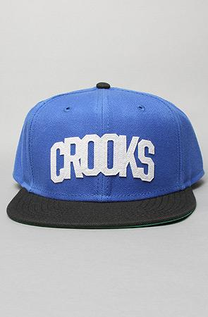 Crooks and Castles The Crooks Athletic Snapback Cap in Blue : Ka...