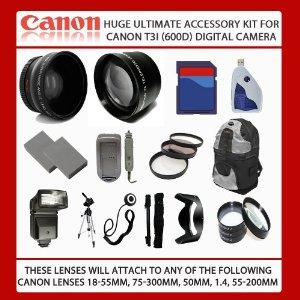 Huge 32GB Ultimate Accessory Kit For Canon EOS Rebel T4i 650D T3i...