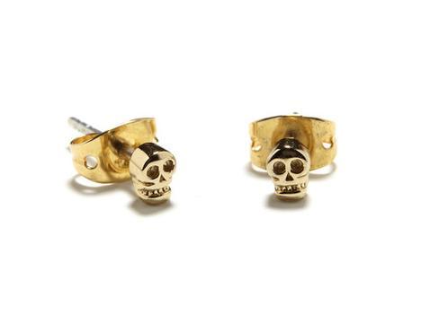 Tiny Skull Studs