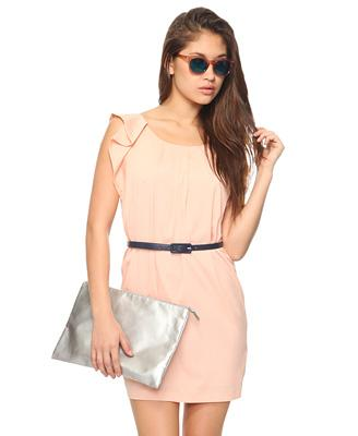 Pleated Shift Dress w/ Belt | FOREVER21 - 2000037984