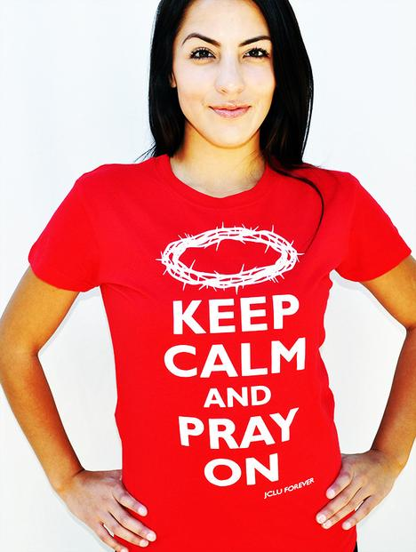 020-KEEP CALM PRAY ON-Christian T-Shirt