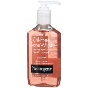 Neutrogena Oil-Free Acne Wash Facial Cleanser, Pink Grapefruit, 6...