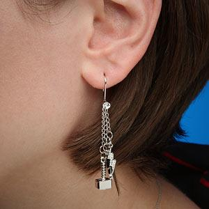 ThinkGeek :: Thor Dangle Earrings