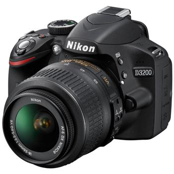Nikon D3200 DX-format Digital SLR Camera w/18-55mm DX VR Zoom Lens...