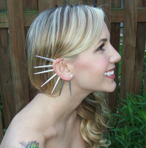 Spiked Ear Cuff by pluckedbysydney on Etsy