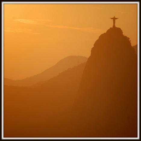 Rio de Janeiro Brazil Photograph Sunset in Rio 5 x by fotostrude...