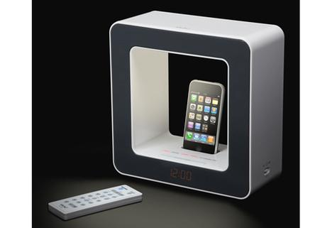 Alarm Clock Lamp Speaker with iPhone Dock
