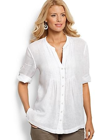 Lani Linen Pleated Shirt
