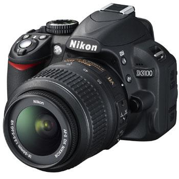 Nikon D3100 Digital SLR Camera 2-Lens VR Outfit(18-55 AF DX & 55...