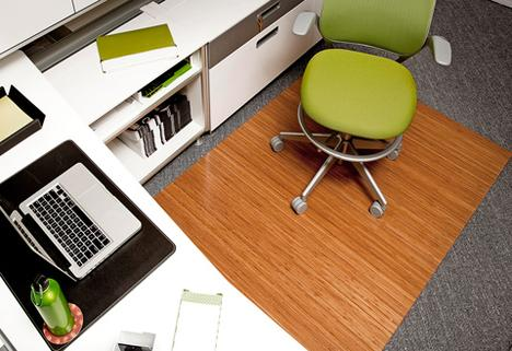 Bamboo Roll up Office Mat