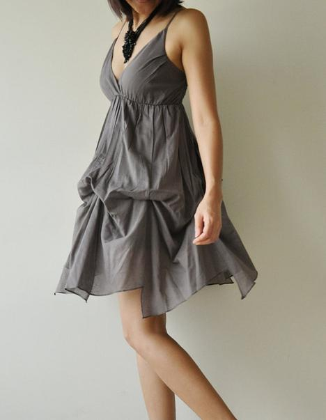 Jazzy Gray Cotton Dress by aftershowershop on Etsy