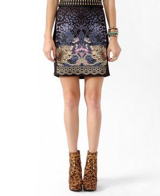 Mirrored Safari Print Skirt | FOREVER21 - 2019571231